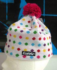 Eisbär Dots Pompon Beanie wht Mütze