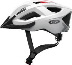 ABUS Aduro 2.0 race white Fahrradhlem