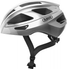ABUS Macator gleam silver ZoomLite Bikehelm